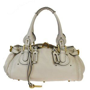 Chloé Paddington Leather Shoulder Bag Ivory